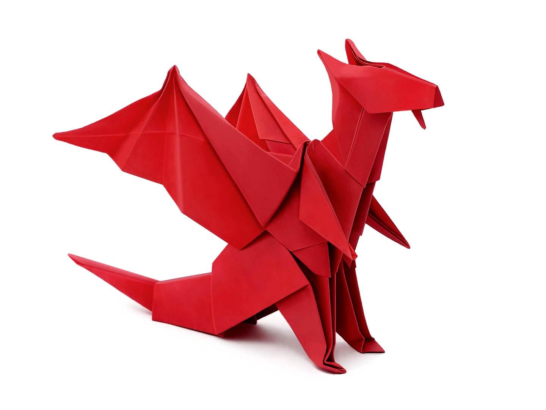 Как сделать дракона из бумаги оригами схема презентация