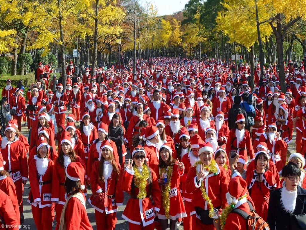 Санта-Клаусов много не бывает - OSAKA SANTA RUN 2017