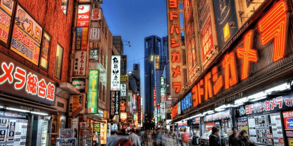 Шоппинг в Японии.