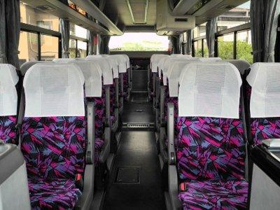 Салон среднего автобуса (27-28 мест) в Японии