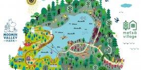 Карта парка Муми-тролля в Японии