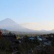 Фудзи-Кавагутико. Деревня-музей Ияси-но Сато. Вид на Фудзи