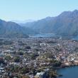 Фудзи-Кавагутико. Вид на озеро Кавагути и город с подъемника горы Кати-Кати