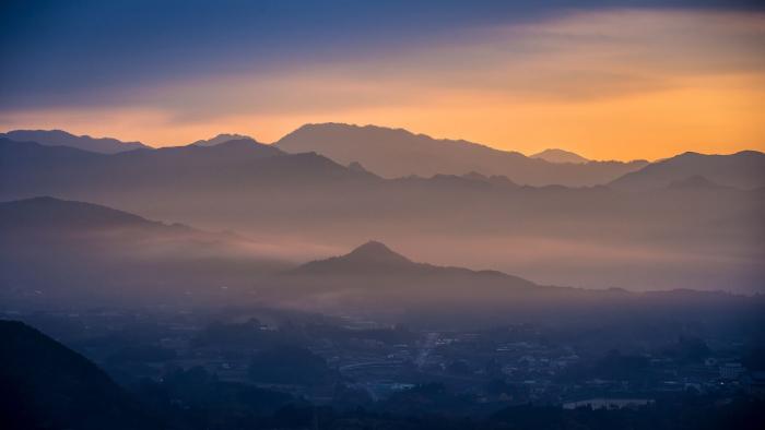 Горный пейзаж камигаока